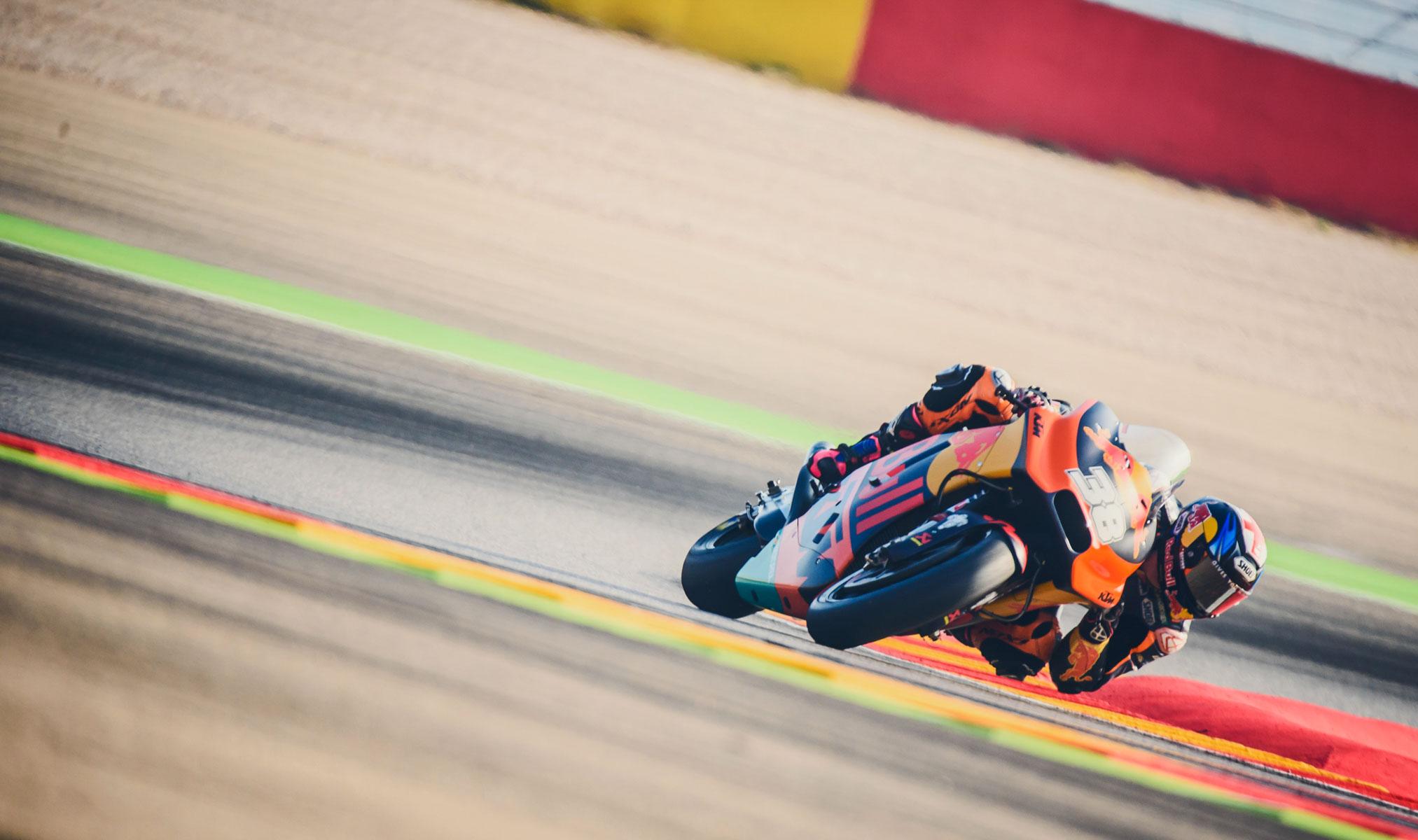KTM testing their machines at Aragon MotoGP